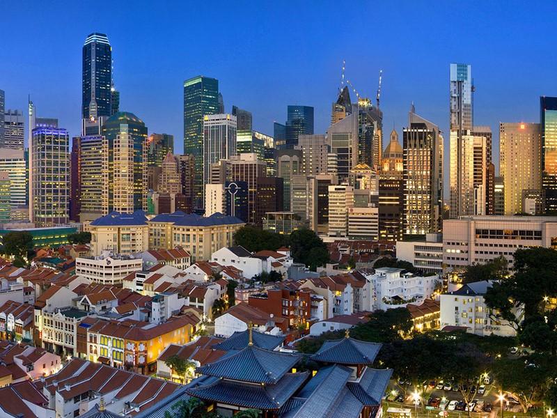 Vue de la ville de Singapour