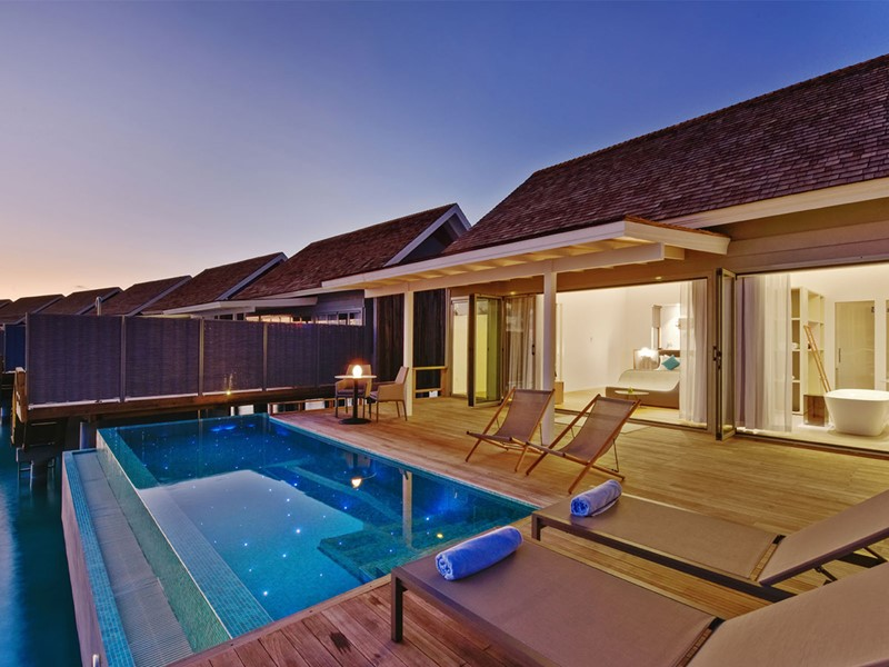 Sunset Water Villa with Pool