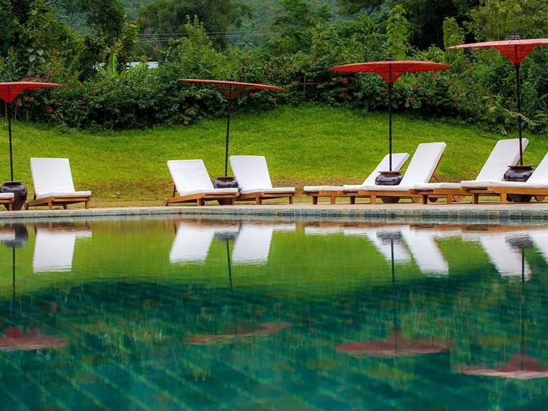 La piscine de la Villa Inle Resort