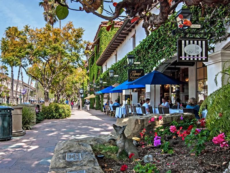 Les rues de charme de Santa Barbara