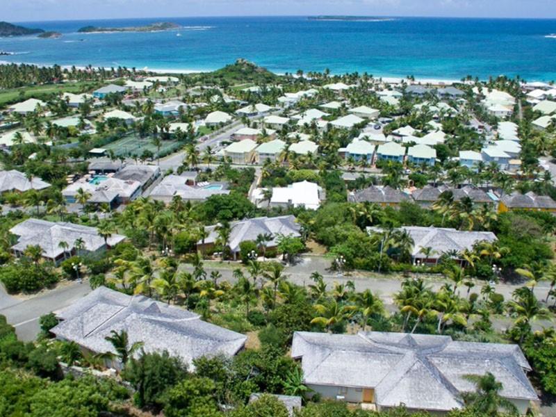 Vue aérienne de La Plantation située aux Antilles