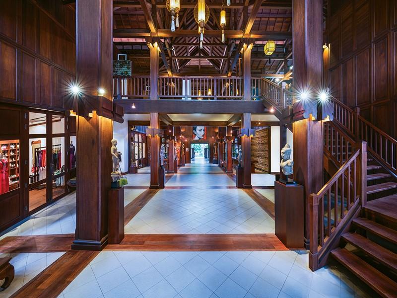 Le lobby de l'hôtel La Résidence d'Angkor à Siem Reap