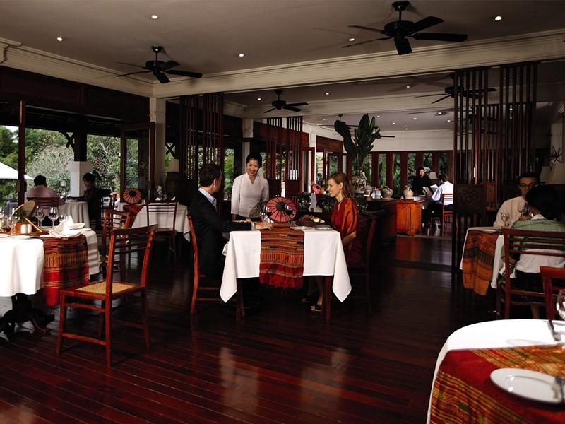 Restaurant Phou Savahn de l'hôtel La Résidence Phou Vao à Luang Prabang