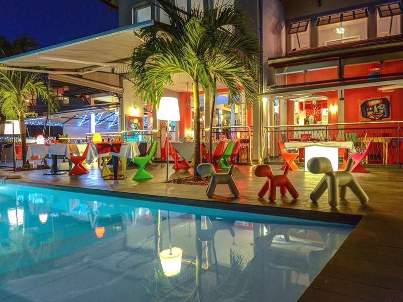 Le restaurant Zandoli de La Suite Villa en Martinique