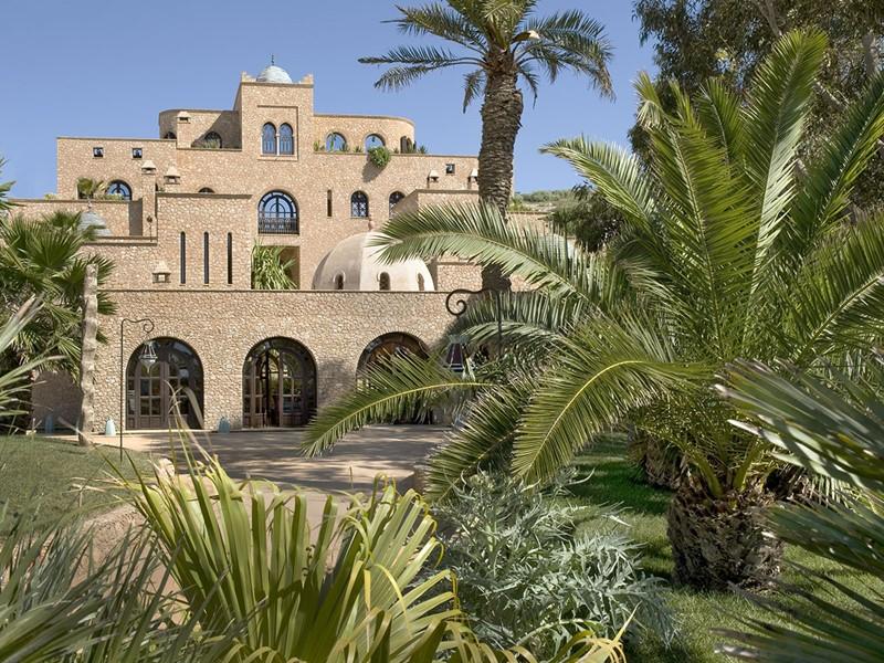 Vue de l'hôtel La Sultana Oualidia au Maroc