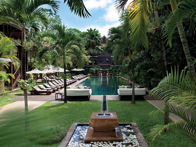 La piscine de La Résidence d'Angkor à Siem Reap