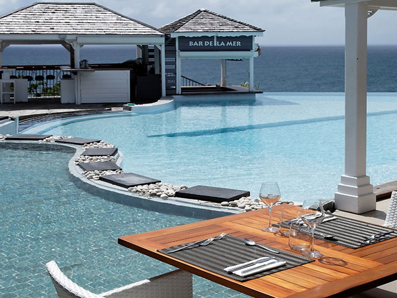 Bar De La Mer de l'hôtel La Toubana aux Antilles