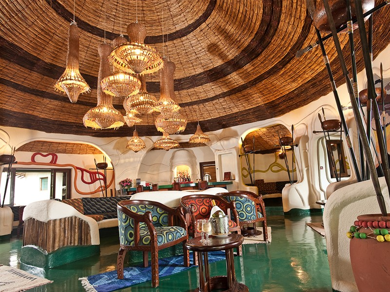 L'intérieur du Lake Manyara Serena Lodge