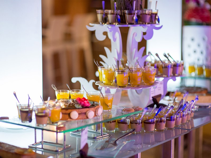 Desserts de l'hôtel Le Lamantin Beach en Afrique