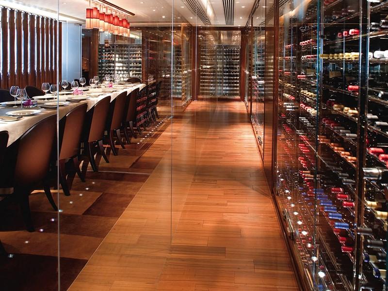 La cave à vin du Landmark Mandarin Oriental en Chine