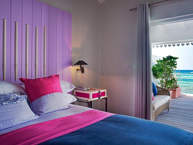 Suite vue mer de l'hôtel Guanahani à St Barth