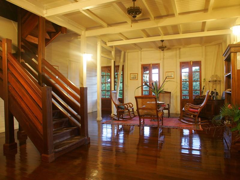 Le lobby de l'hôtel Le Jardin de Malanga en Guadeloupe