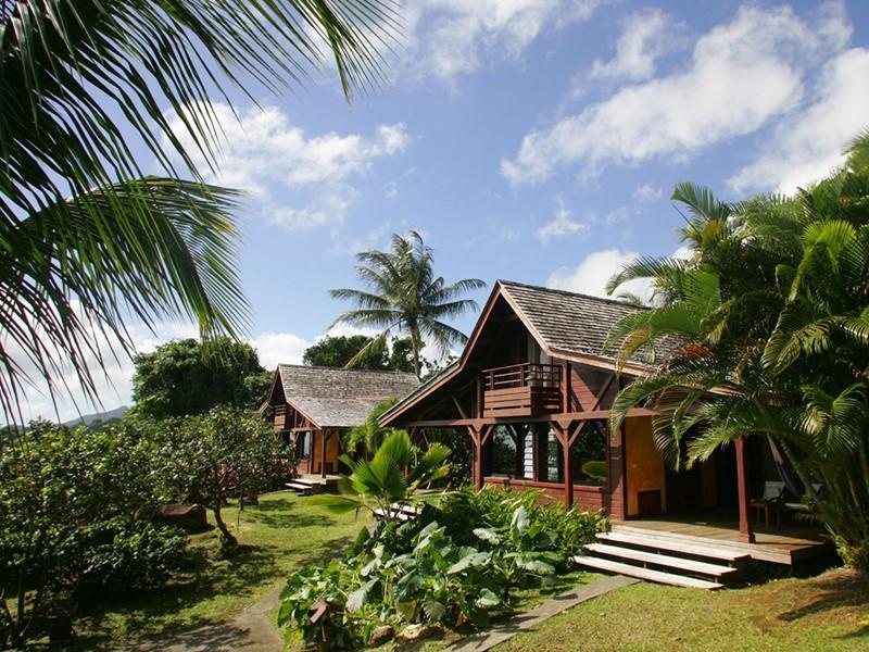 Vue extérieure d'un Cottage du Jardin de Malanga