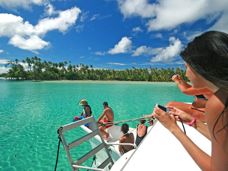 Balade en mer à l'hôtel Le Mahana à Huahine