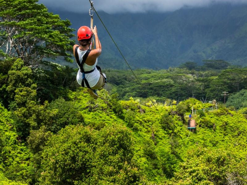 Les tyroliennes grandioses de Maui
