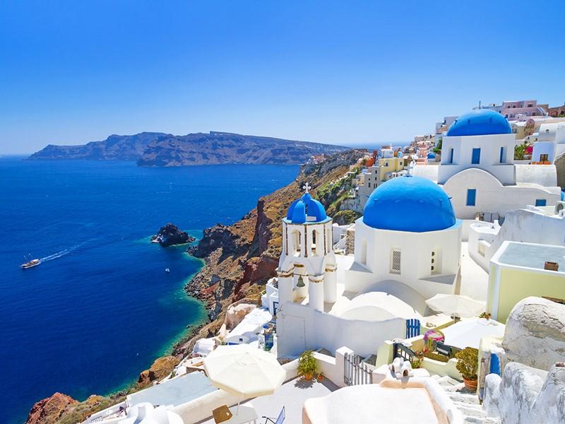 Santorin et son paysage grec très typique