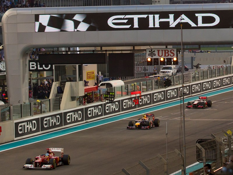 Circuit de Formule 1 sur l'île de Yas