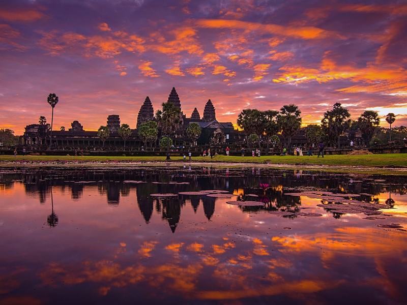 Découverte du temple d'Angkor Wat à Siem Reap