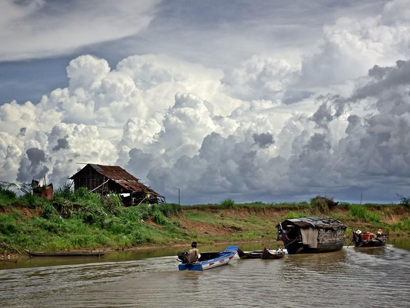 La ville de Battambang au Cambodge