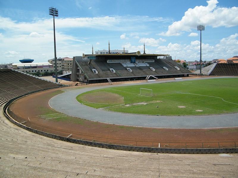 Vue du Stade Olympique de Phnom Penh