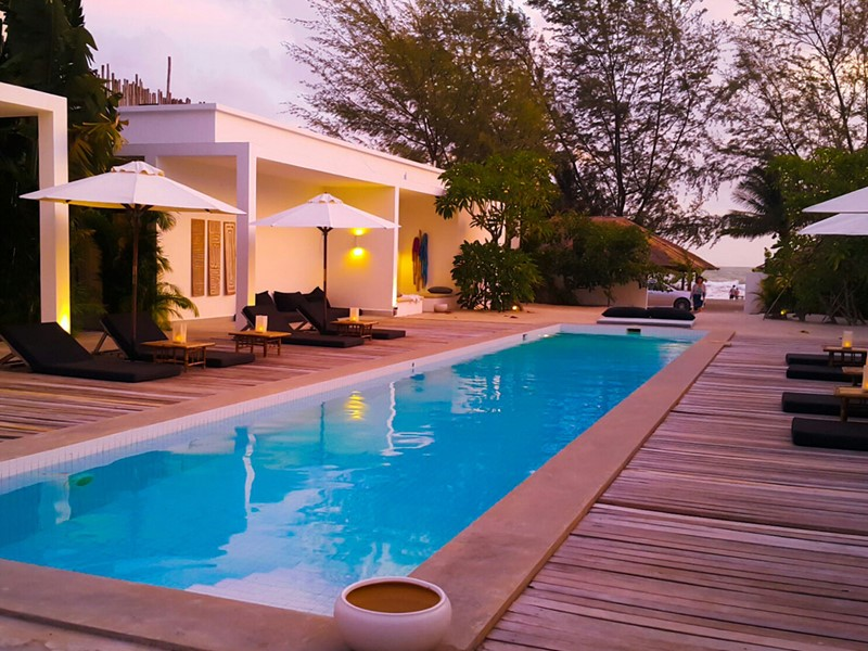 La piscine de l'hôtel 4 étoiles Tamu