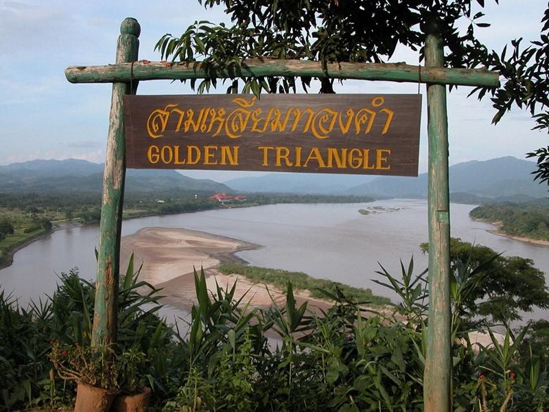 En route vers le fameux Triangle d'Or en Asie du Sud-Est