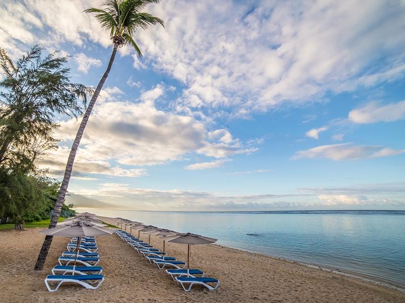 La superbe plage de l'hôtel Le Nautile à La Réunion