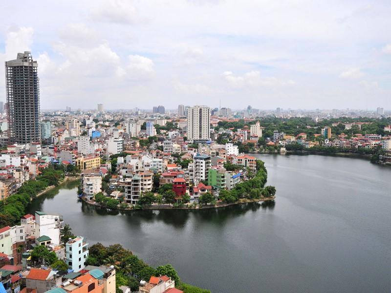 Vue de la ville de Hanoi au Vietnam
