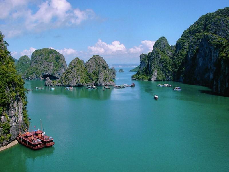 Vue de la baie d'Halong au Vietnam
