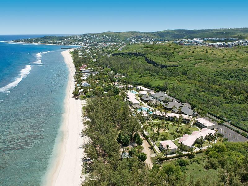 Vue aérienne de l'hôtel Le Récif à Saint-Gilles