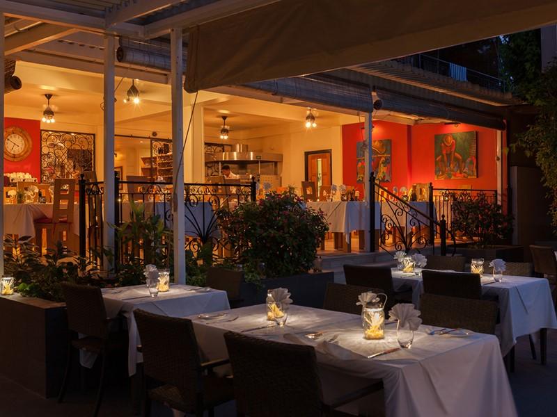 Délicieuse cuisine italienne au restaurant de l'hôtel Le Repaire