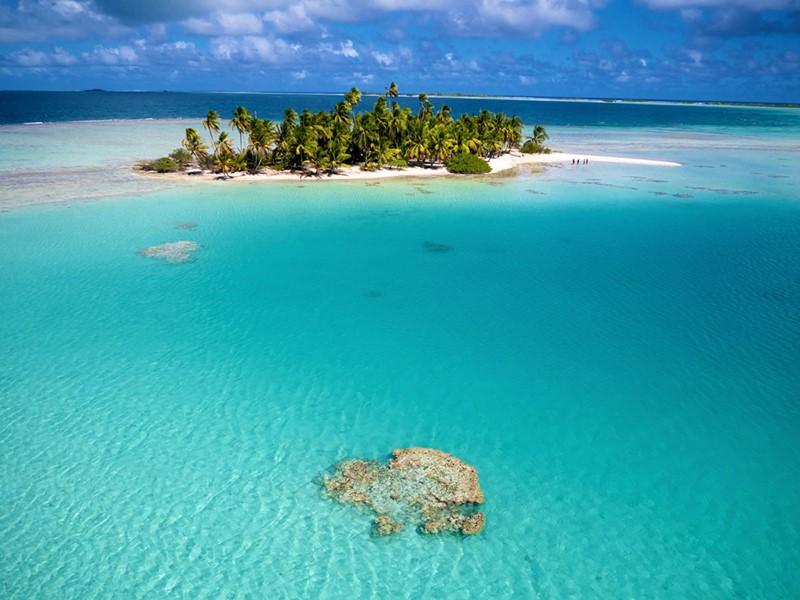 Le Sauvage est situé sur un îlot de rêve à Rangiroa