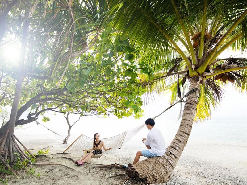 Escapade en amoureux sur l'île Le Sauvage à Rangiroa