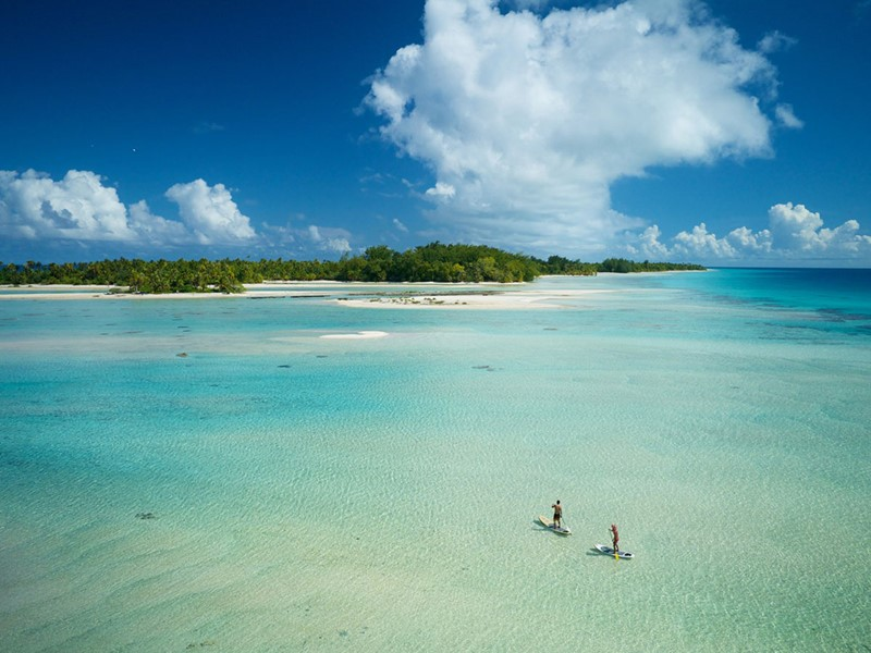 Profitez d'activités nautiques au milieu de l'océan