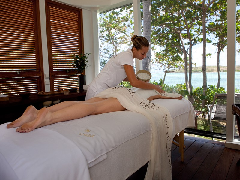 Le spa de l'hôtel 5 étoiles Le Sereno aux Antilles
