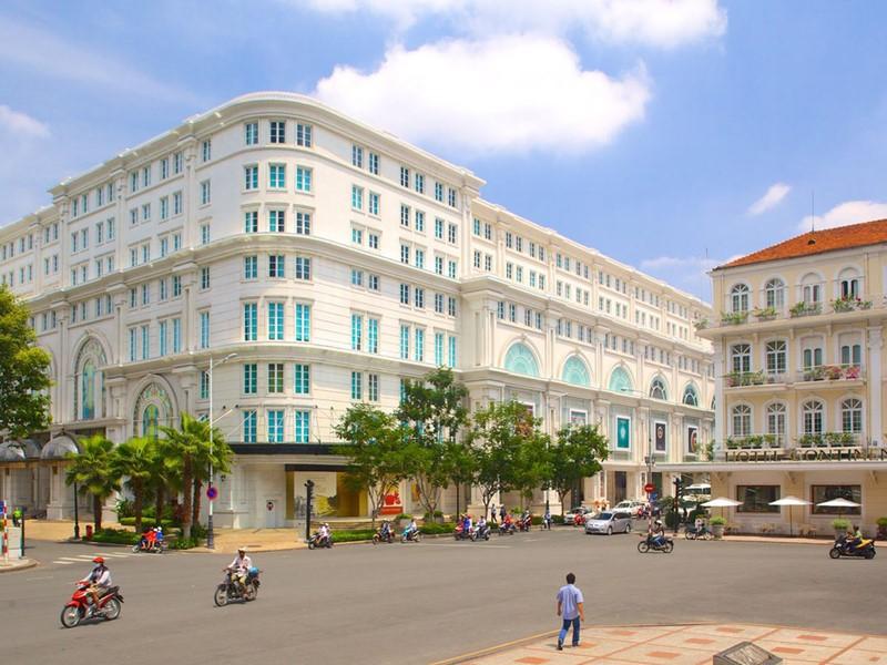 La rue Dong Khoi à Ho Chi Minh Ville, anciennement connu comme la Rue Catinat