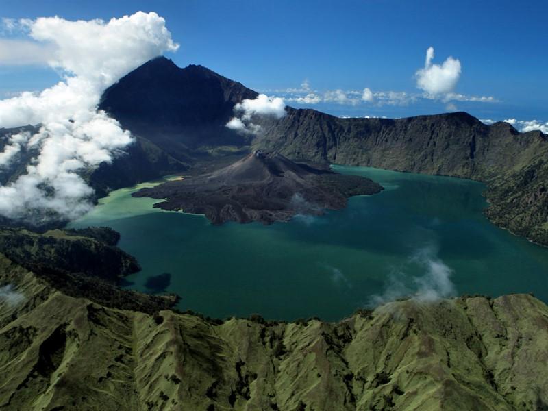 La vue du ciel de l'île de Java