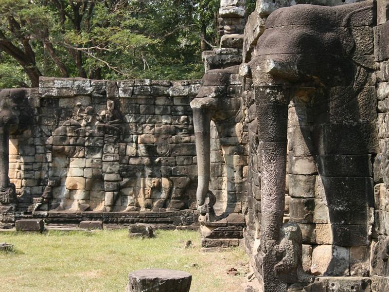 Vue de la terrasse des Eléphants d'Angkor Thom