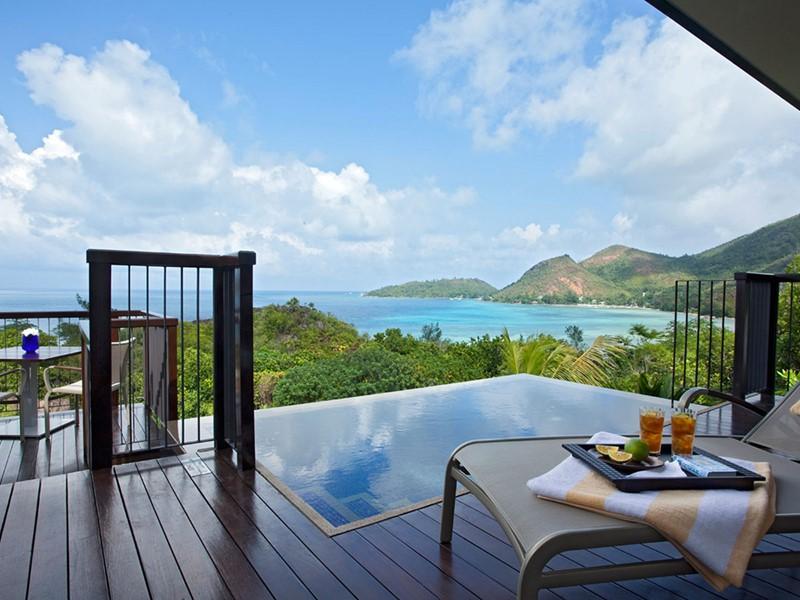 Oceanview Pool Villa de l'hôtel Raffles Praslin