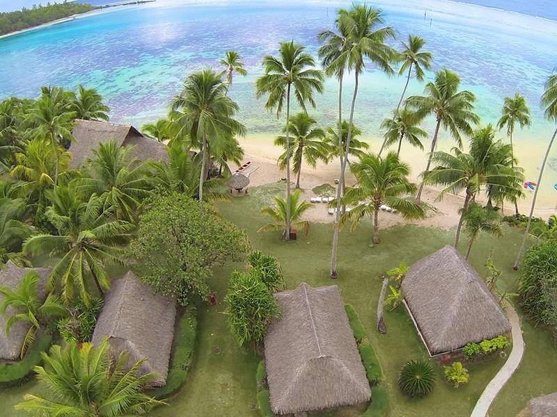 Vue aérienne de l'hôtel Les Tipaniers
