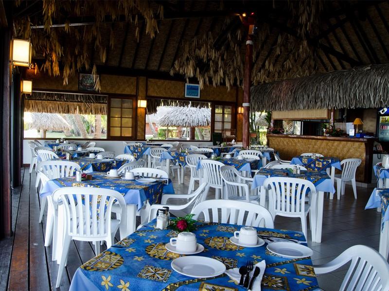 Le restaurant de la plage de l'hôtel Les Tipaniers