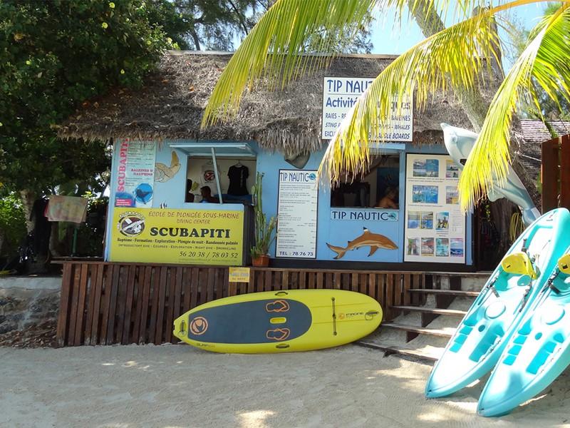 Activités nautiques de l'hôtel Les Tipaniers, à Moorea