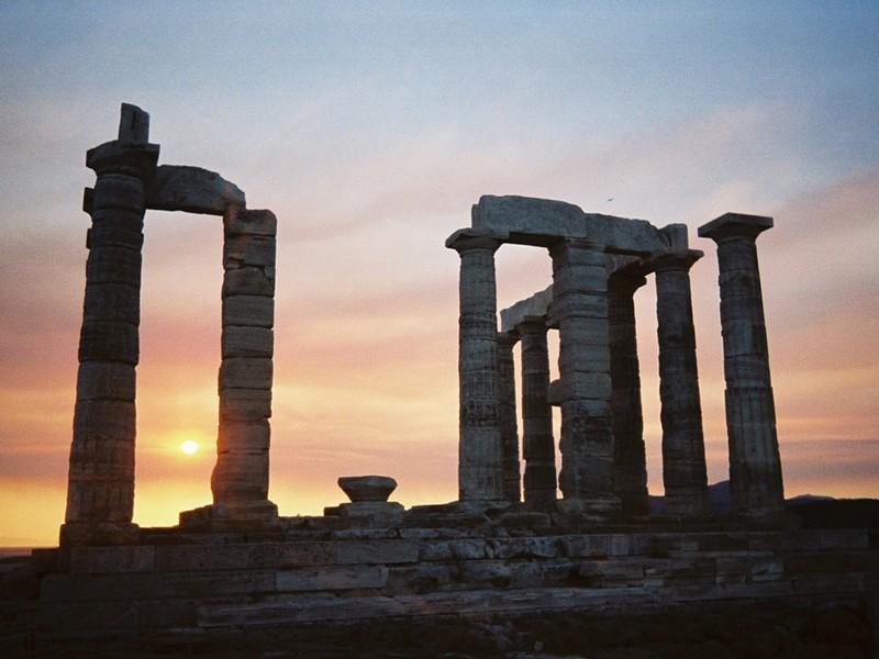 Ruines du temple de Poséidon à Cap Sounion
