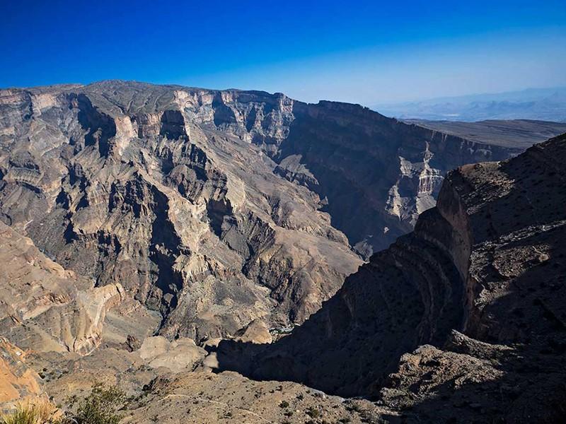 Le Jebel Shams, le plus haut sommet d'Oman