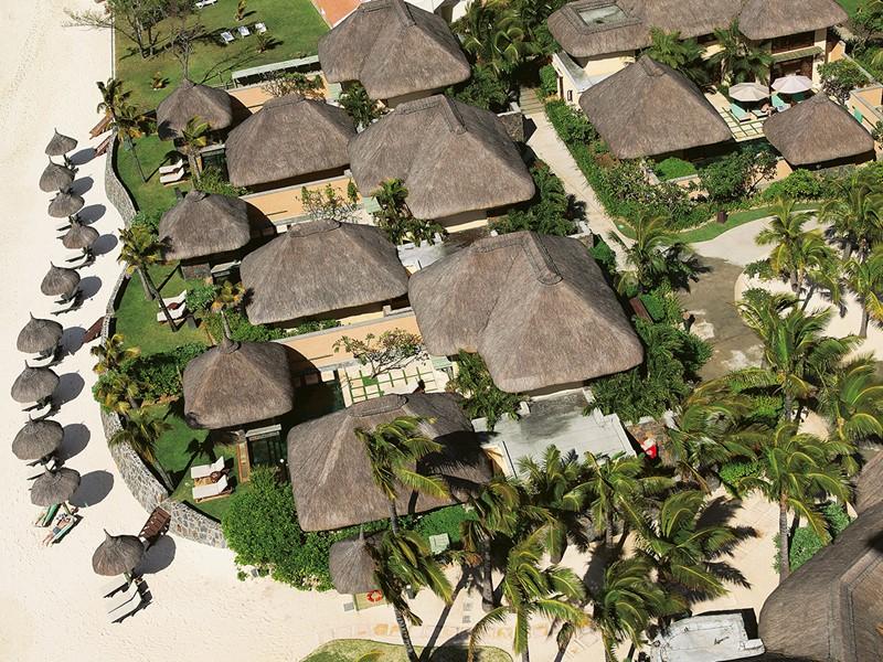 Vue aérienne des villas