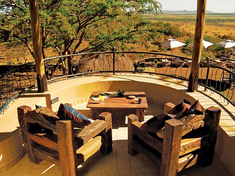 Vue depuis le Ngorongoro Sopa Lodge