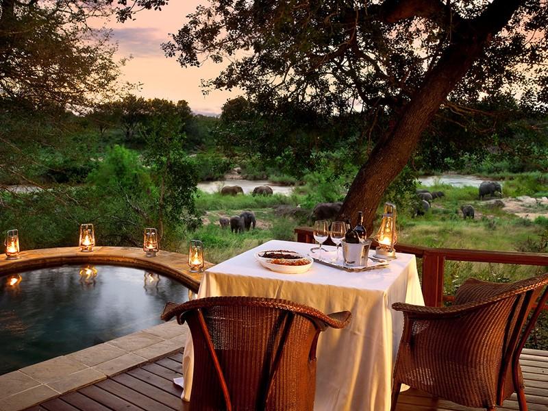 Profitez d'un somptueux repas au Lion Sands Game Reserve