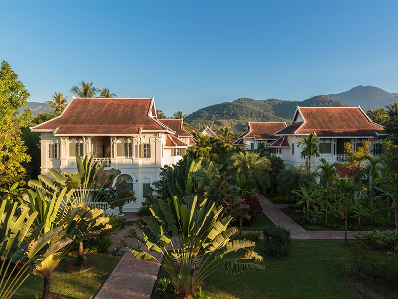 Vue de l'hôtel Luang Say Residence situé à Luang Prabang