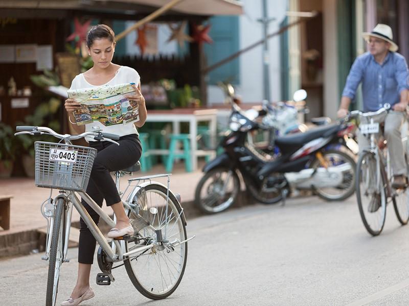 Balade à vélo au Luang Say Residence au Laos