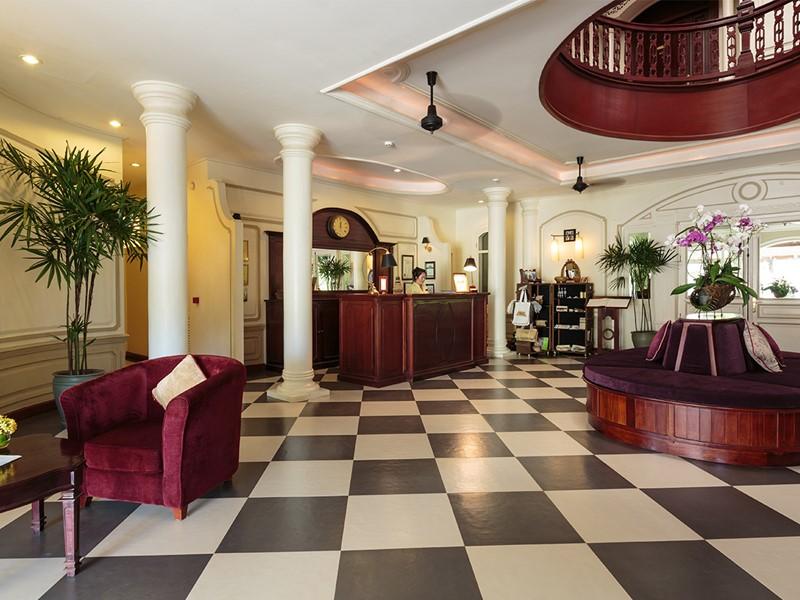 La reception de l'hôtel Luang Say Residence situé au Laos